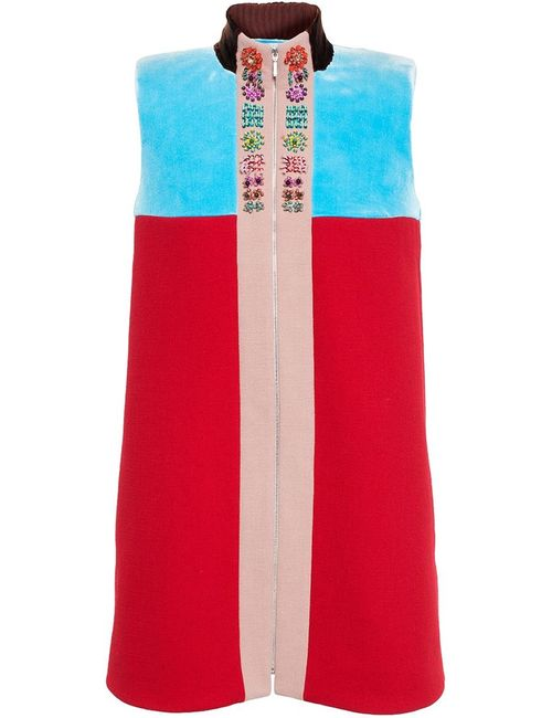 Delpozo | Женское Красное Платье Без Рукавов С Застежкой-Молнией