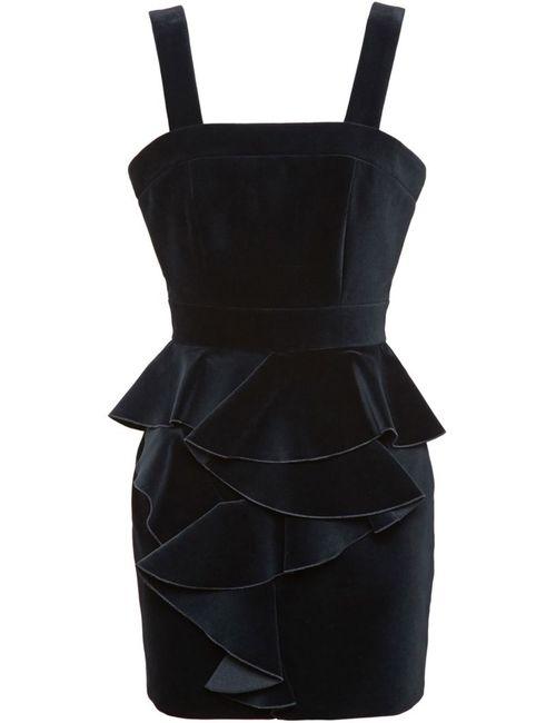 Balmain | Женское Черный Velvet Frill Dress