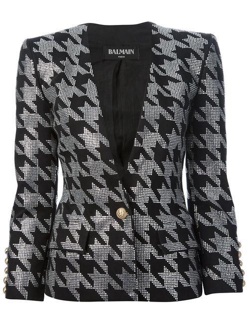 Balmain | Женская Чёрная Куртка С Украшением