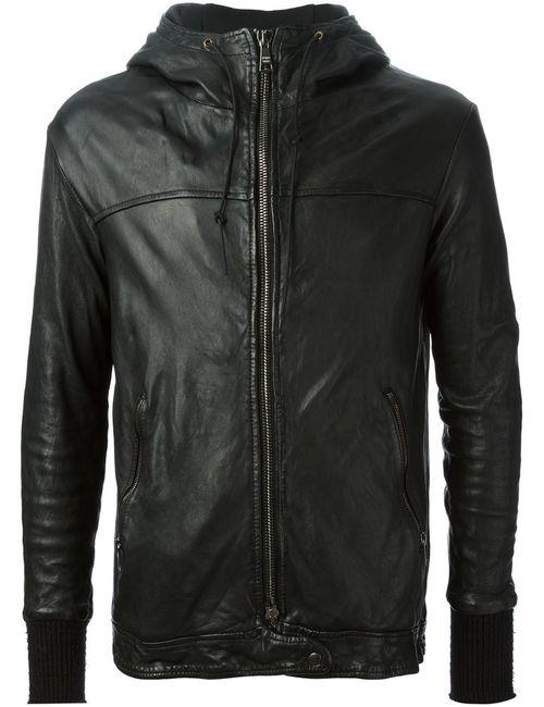 Giorgio Brato | Мужская Чёрная Куртка С Капюшоном