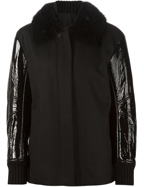 Vera Wang | Женское Чёрный Vinyl Sleeve Jacket