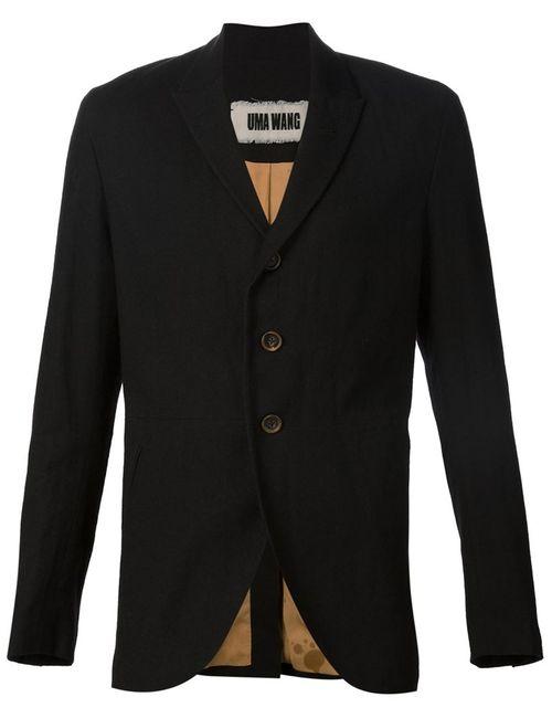 UMA WANG | Мужское Чёрный Casual Fitted Blazer