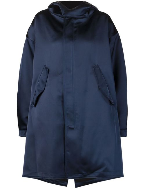NOMIA | Женская Синяя Объемная Куртка С Капюшоном