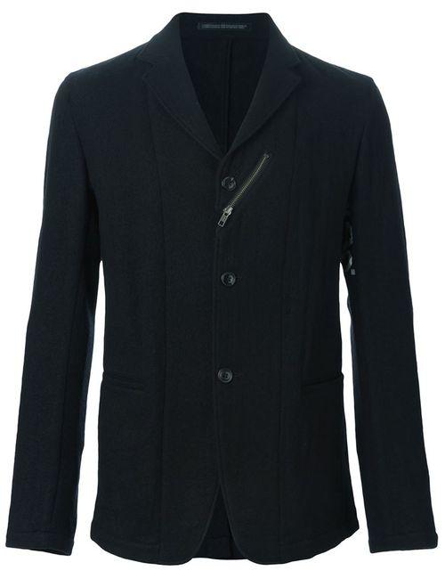 Yohji Yamamoto | Мужской Чёрный Пиджак С Отделкой В Виде Клейкой Ленты