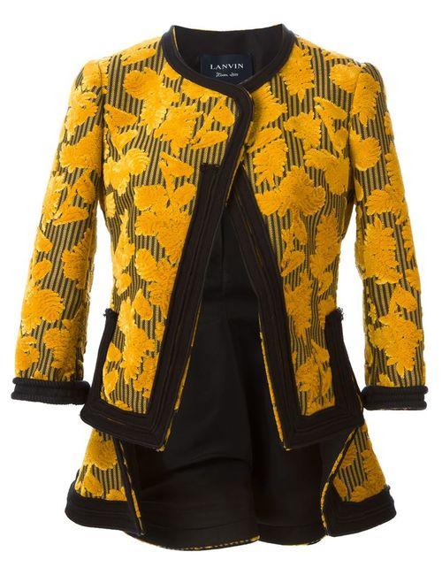 Lanvin | Женский Жёлтый Блейзер С Цветочным Узором