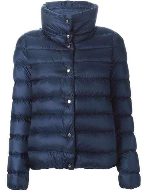 Moncler | Женская Синяя Дутая Куртка Plessis