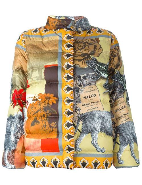 Etro | Женская Многоцветная Дутая Куртка С Комбинированным Принтом