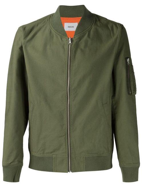 FADELESS | Мужская Зелёная Двусторонняя Куртка-Бомбер