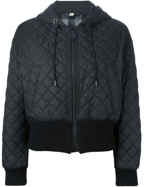 Burberry Brit   Женская Чёрная Стеганая Куртка С Капюшоном