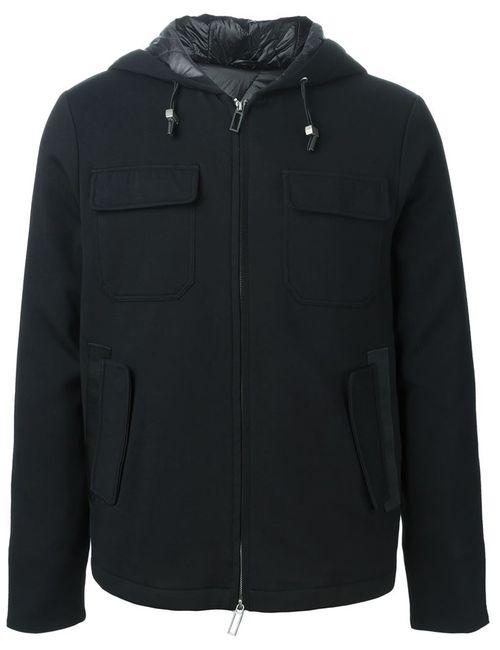 Paolo Pecora | Мужская Черный Куртка-Ветровка На Молнии