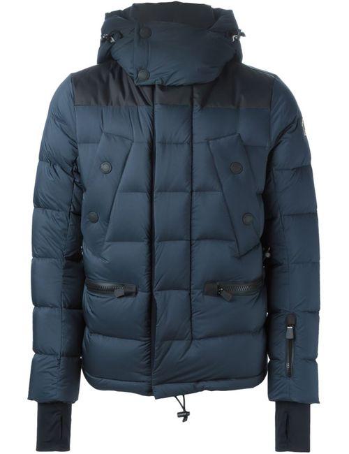 Moncler Grenoble | Мужская Синяя Дутая Куртка С Капюшоном