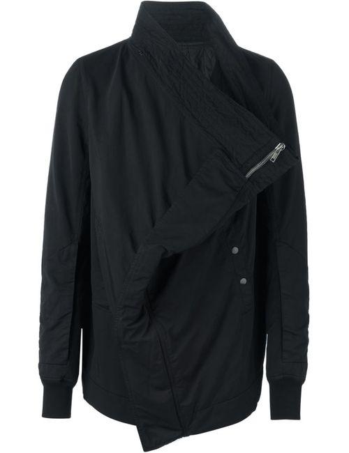 RICK OWENS DRKSHDW | Мужская Чёрная Куртка Со Смещенной Застежкой