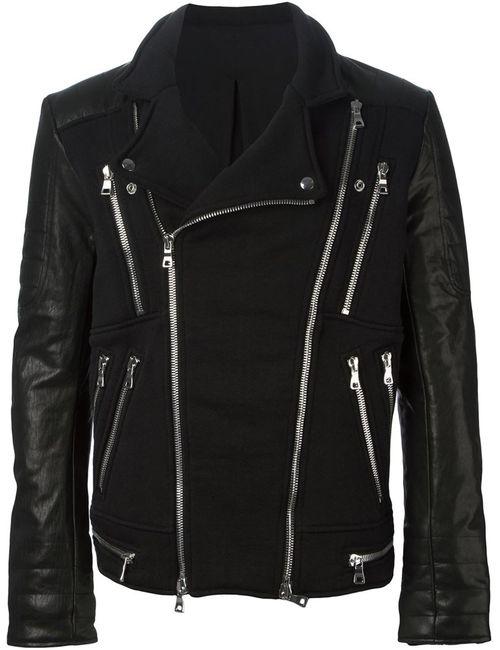 Balmain | Мужское Чёрный Zip Detail Biker Jacket