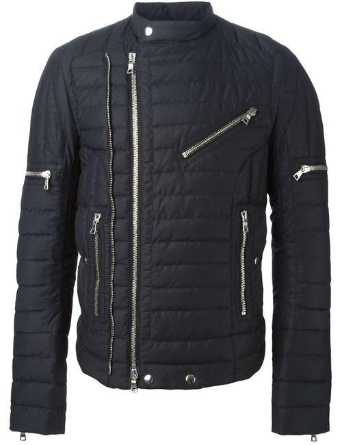 Balmain | Мужская Чёрная Стеганая Куртка