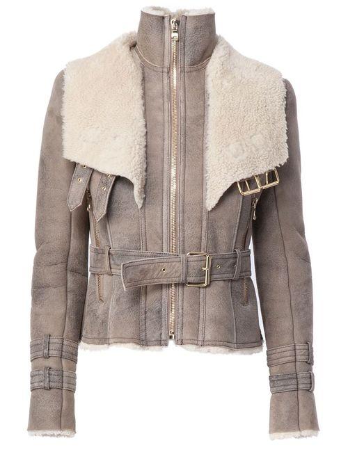 Balmain | Женская Серая Куртка На Молнии