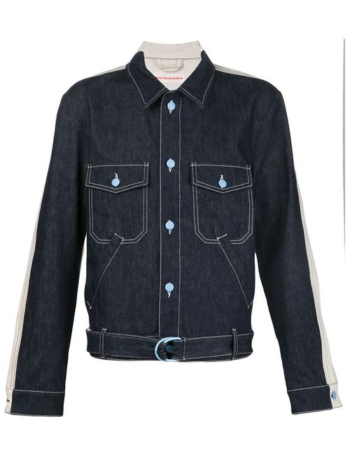 WALTER VAN BEIRENDONCK VINTAGE | Мужская Синяя Джинсовая Куртка С Панельным Дизайном