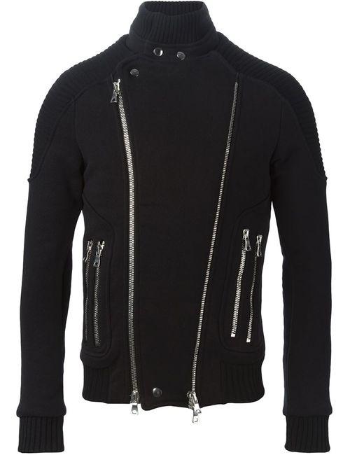 Balmain | Мужская Черный Байкерская Куртка