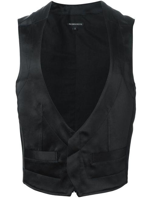 Ann Demeulemeester | Мужское Чёрный Wide V-Neck Waistcoat