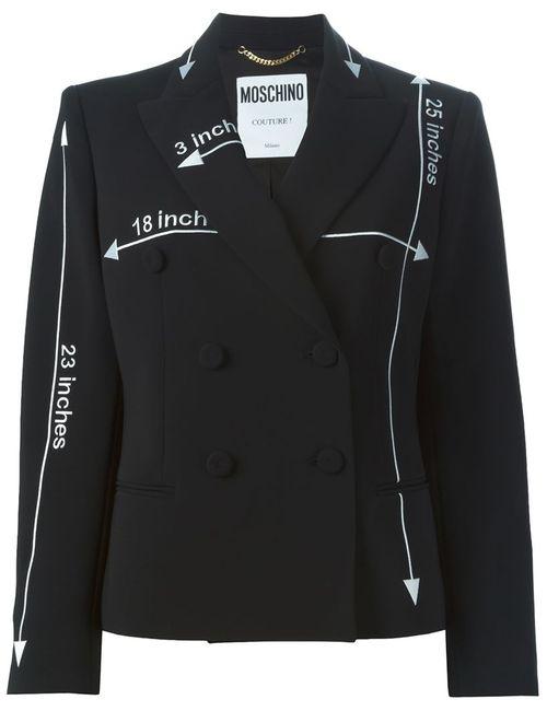 Moschino | Женская Чёрная Двубортная Куртка