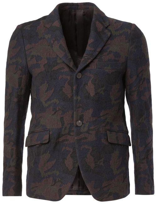 08SIRCUS | Мужское Синий Camouflage Blazer