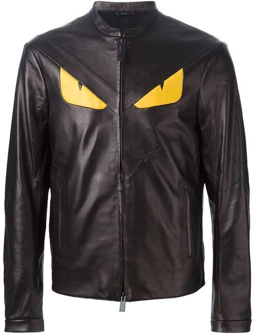 Fendi | Мужская Чёрная Куртка Bag Bugs