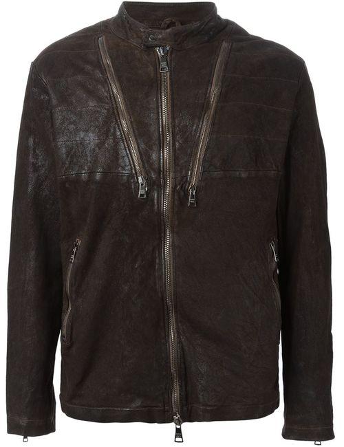 Giorgio Brato   Мужская Коричневая Куртка На Молнии