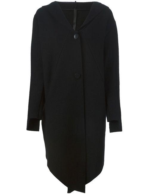 Barbara I Gongini | Женское Чёрное Длинное Пальто С Капюшоном
