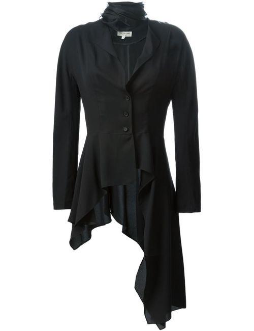 Ivan Grundahl | Женский Чёрный Облегающий Пиджак Асимметричного Кроя