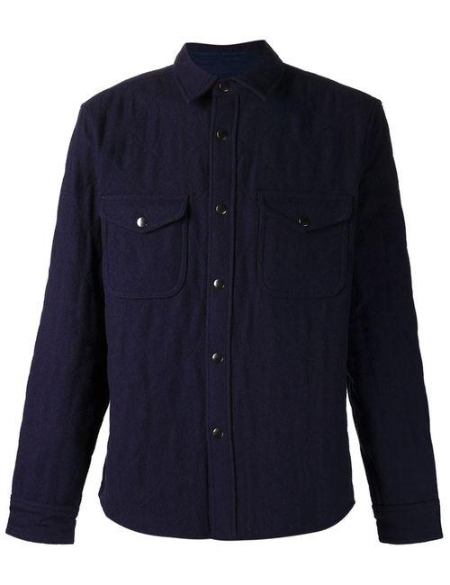 ALEX MILL | Мужское Синий Quilted Shirt Jacket