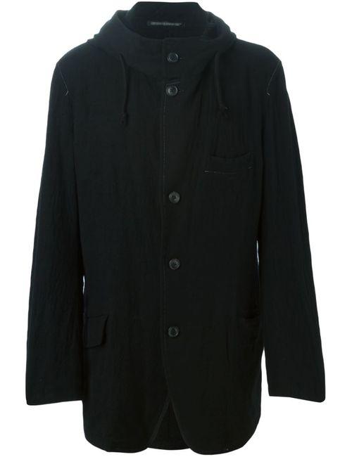 Yohji Yamamoto | Мужская Чёрная Куртка С Капюшоном
