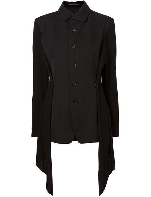 Yohji Yamamoto | Женский Чёрный Пиджак С Асимметричными Клапанами Сбоку