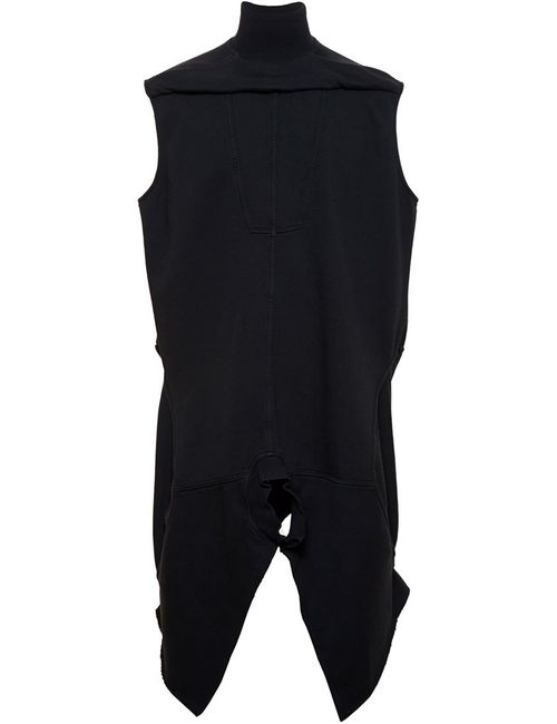 Rick Owens | Женское Jersey Tunic With Lamb Leather Trim