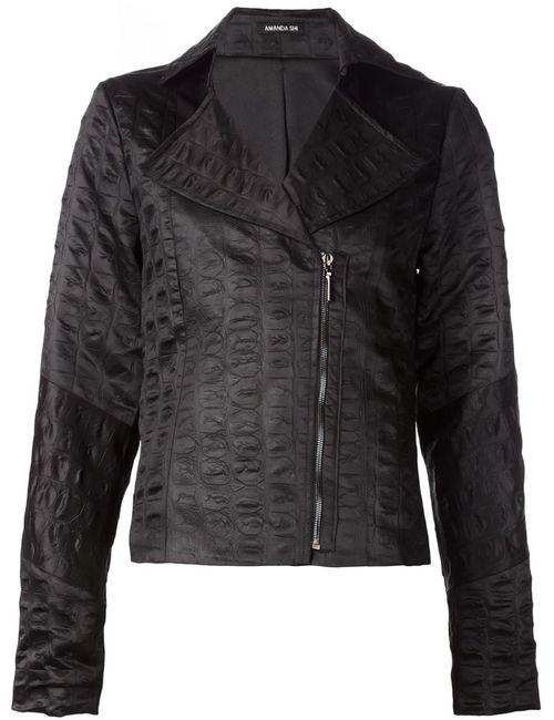 AMANDA SHI | Женская Черный Байкерская Куртка Lydia