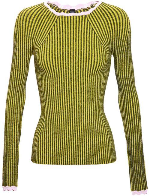 ADAM SELMAN | Женское Чёрный Striped Knit