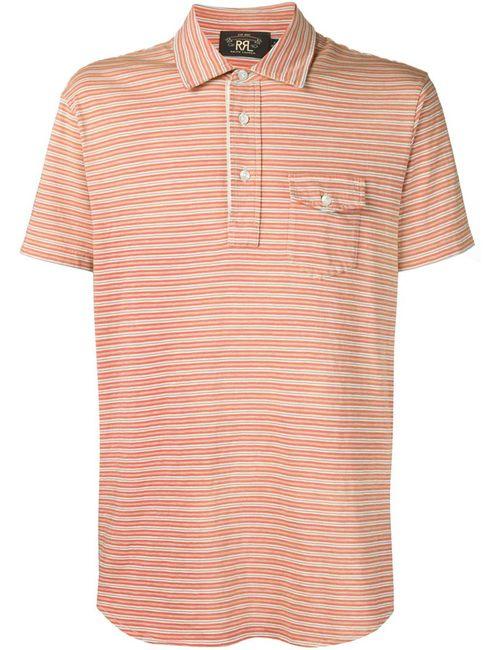 RRL   Мужское Желтый Striped Polo Shirt