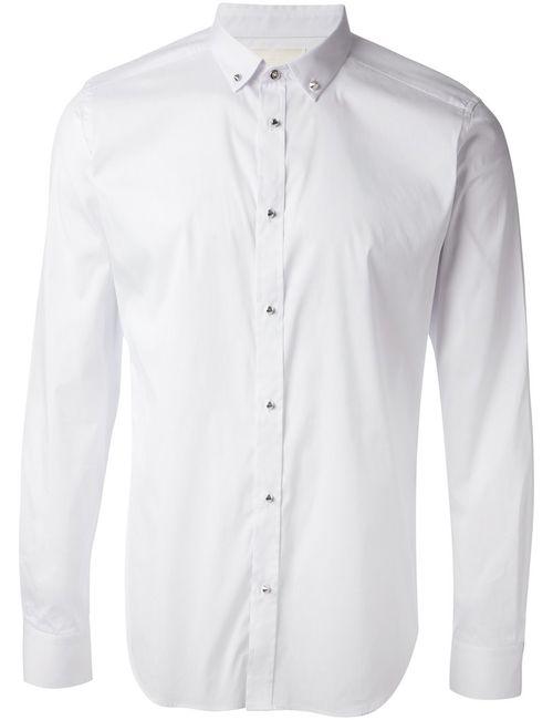 Diesel | Мужская Белая Рубашка С Пуговицами-Шипами