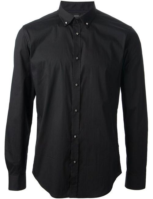 Diesel | Мужская Черный Рубашка С Пуговицами-Шипами