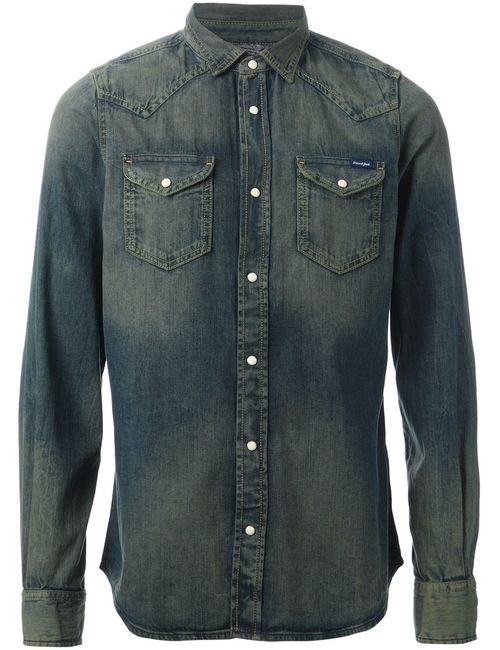 Diesel | Мужская Синяя Рубашка New-Sonora