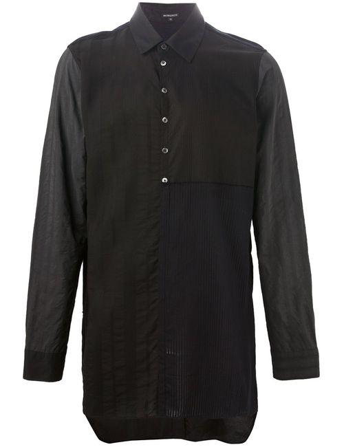 Ann Demeulemeester | Мужская Чёрная Длинная Лоскутная Рубашка