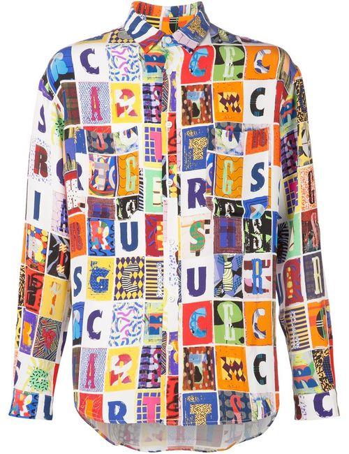 Kit Neale | Мужская Многоцветная Рубашка С Принтом Букв