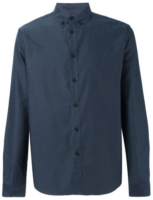 08SIRCUS | Мужская Синяя Классическая Рубашка