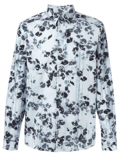Paul Smith | Мужская Синяя Рубашка С Цветочным Принтом