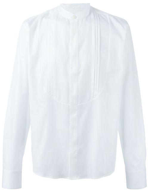 Tonello | Мужская Белая Рубашка С Воротником-Стойкой