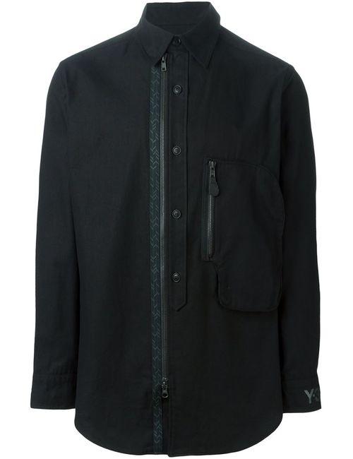 Y-3 | Мужская Черный Рубашка С Застежкой На Пуговицах И Молнии