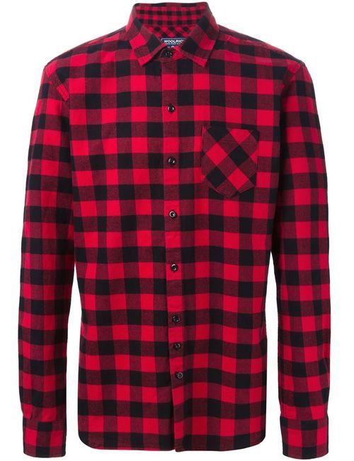 Woolrich | Мужская Красная Рубашка В Клетку