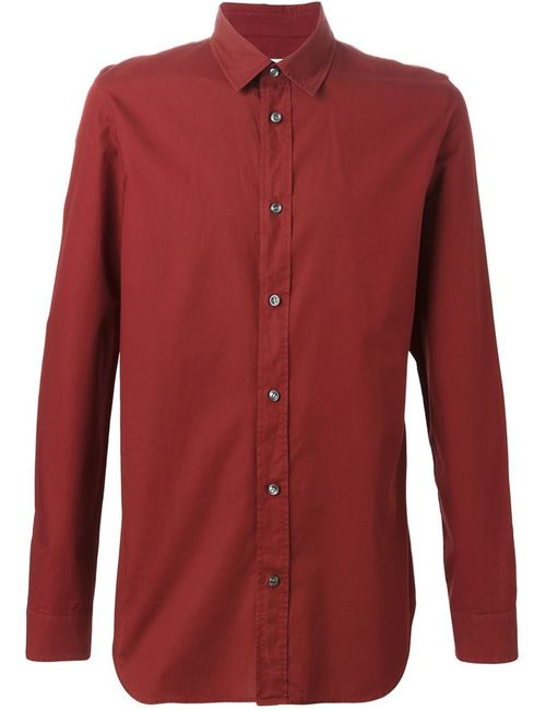 Maison Margiela   Мужская Красная Повседневная Рубашка