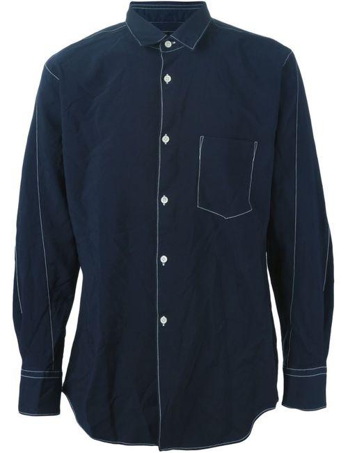 Comme Des Garcons | Мужская Синяя Рубашка С Нагрудным Карманом