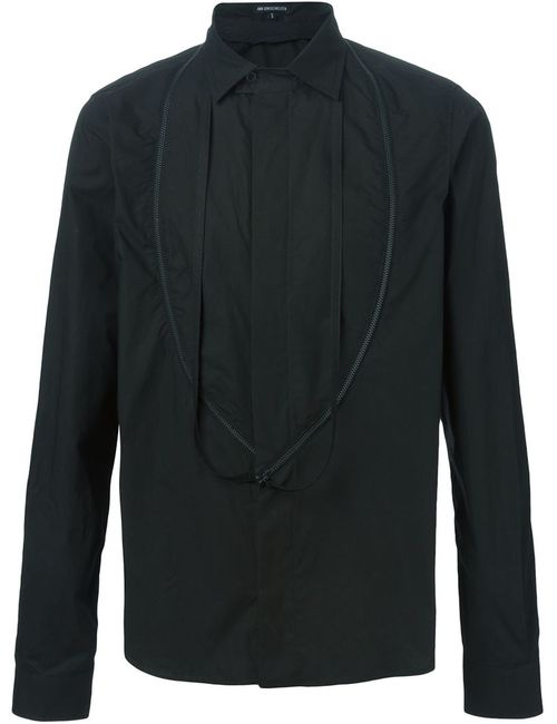 Ann Demeulemeester | Мужская Чёрная Рубашка На Молнии