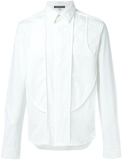 Ann Demeulemeester | Мужская Белая Рубашка С Панельным Дизайном