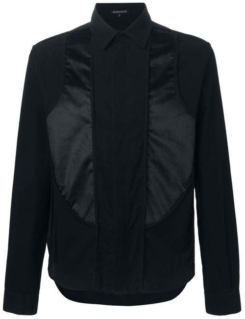 Ann Demeulemeester | Мужская Чёрная Рубашка С Панельным Дизайном
